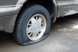 Flat tyre, used cars Dubai
