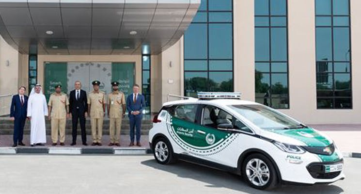 Dubai police is adding the latest electric SUV to its fleet!