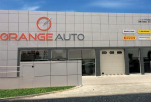orange auto selling car