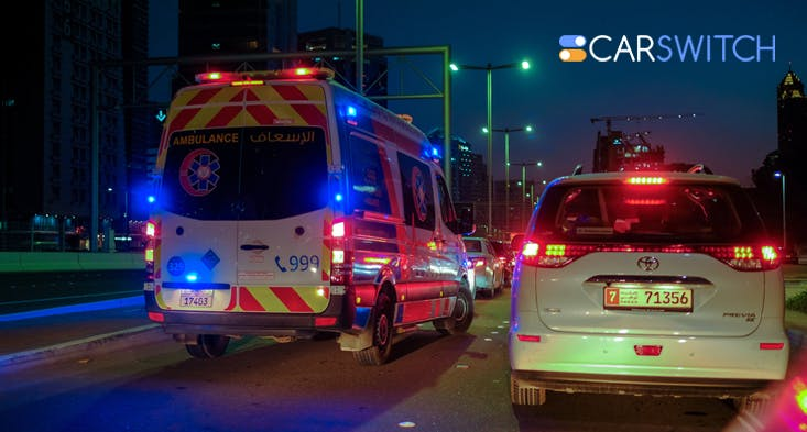 emergency vehicle fines used cars in Abu Dhabi
