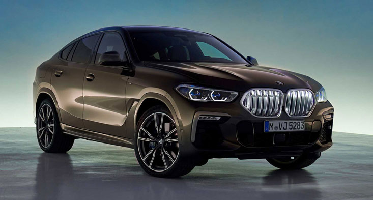 The all-new BMW X6 with an illuminated grille
