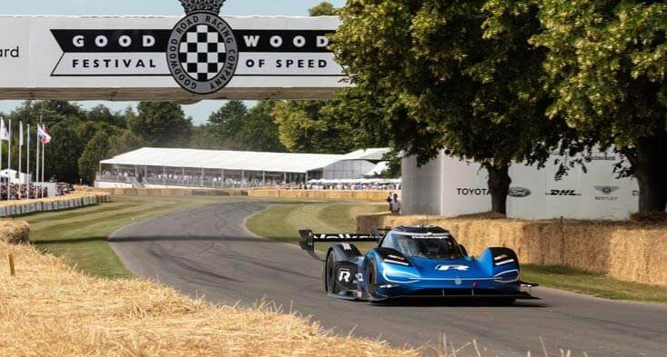 Volkswagen ID.R EV sets a new record at Goodwood Festival! sell any car in Abu Dhabi