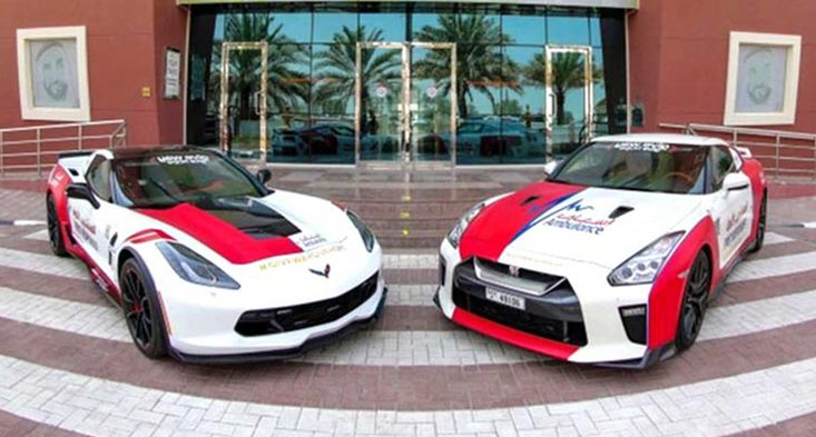 Dubai Ambulance adds three new supercars for sale in Dubai