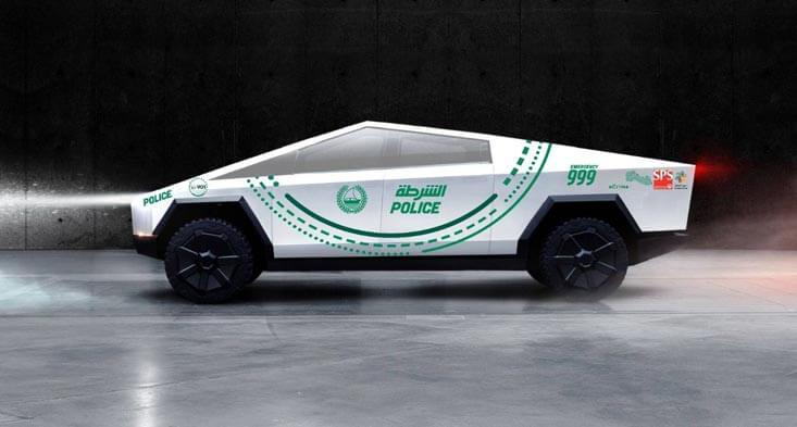 Tesla police cars for sale in Dubai