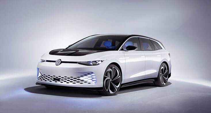 Volkswagen Reveals The ID. Space Vizzion, Its Electric Wagon-