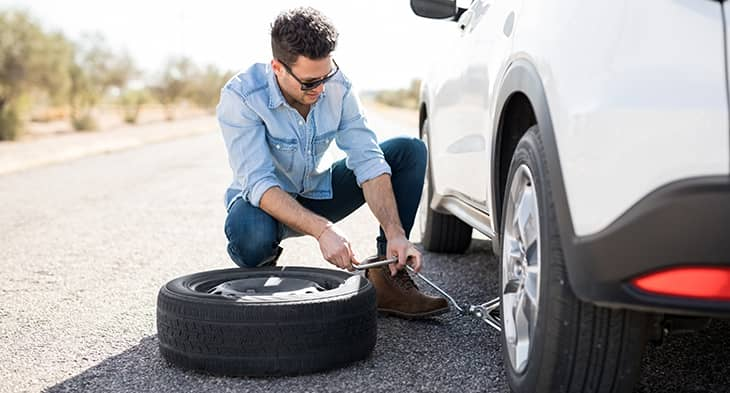 steps to change car tyre